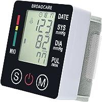 BROADCARE Digitale Handgelenk-Blutdruckmessgeräte Vollautomatische Blutdruck- und Pulsmessung am Armband hohe Messgenauigkeit mit USB Wiederaufladbare Heimgebrauch für 2 Benutzer 180 Aufzeichnungen