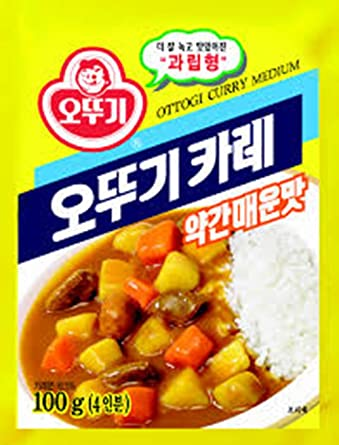 ottogi Curry en polvo 3.52 oz 10 Pack combo: Amazon.com ...