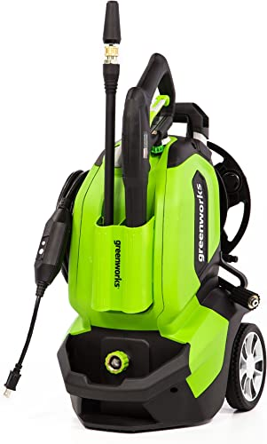 Greenworks GPW1802 Pressure Washer, 1800 PSI, green