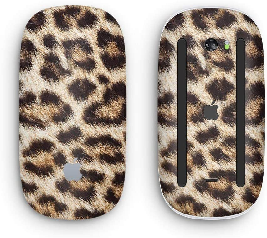 Wireless, Rechargable Design Skinz Premium Vinyl Decal for The Apple Magic Mouse 2 with Multi-Touch Surface Leopard Furry Animal Hide