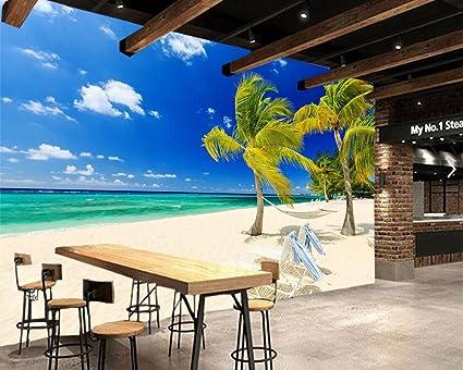 Yosot Sky Sea Beach Nature Photo Palm Trees 3d Wallpaper