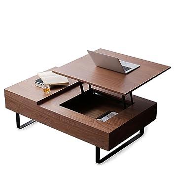 LOWYA (ロウヤ) テーブル ローテーブル 高さ調整 昇降式 天然木 引き出し付き
