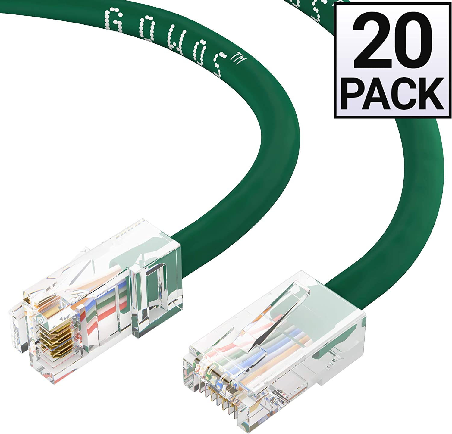 UTP Available in 28 Lengths and 10 Colors RJ45 10Gbps High Speed LAN Internet Patch Cord Computer Network Cable with Bootless Connector 10 Feet - Yellow GOWOS 5-Pack Cat5e Ethernet Cable
