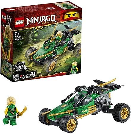 Set LEGO NINJAGO Legacy, compuesto por el Buggy de la Jungla de juguete y una figura de acción del n