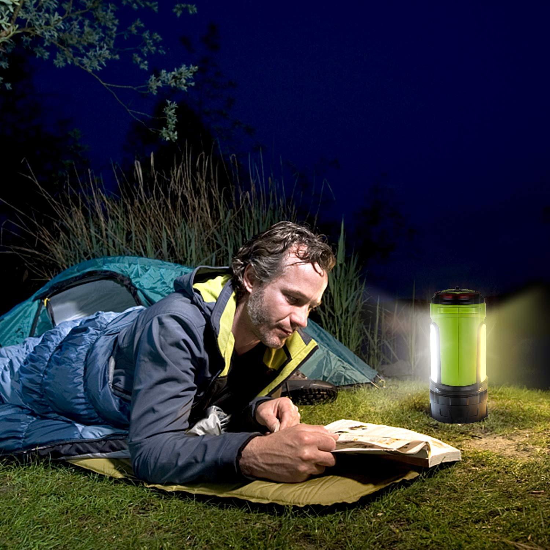 Wandern Camping Odoland LED Campinglaterne Camping Laterne LED Handlampe 3 Helligkeiten Dimmbar 1200 Lumen Super Bright Taschenlampe mit 2600 mAh Notfallleuchte f/ür Stromausf/ällen