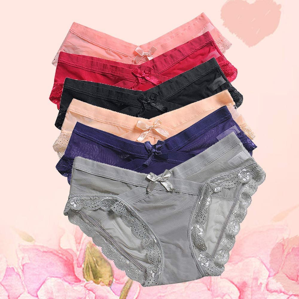 Logobeing Mbragas Mujer Algodon Pack 6 Tangas Ropa Interior ...