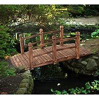 COSTWAY Puente de Jardín Madera para Estanque Jardín