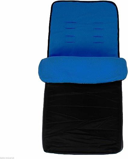 Universal Baby Stroller cosytoes Liner Buggy Padded Luxury Footmuff Black//Plum