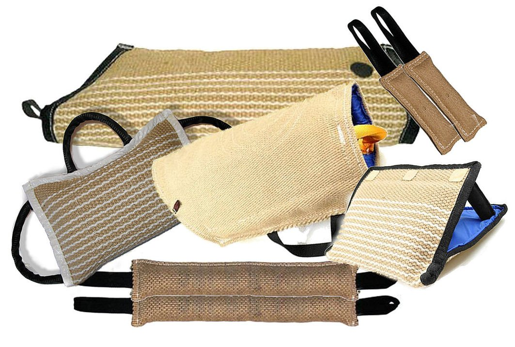 Redline K9 8 Piece K9 Training Kit 1-Large Jute Puppy Sleeve 1-Small Jute Puppy Sleeve 2-4''X24'' 2 Handle Jute Tugs 2-3''X10'' 1 Handle Jute Tugs 1-3 Handle jute Bite Wedge 1-3 Handle Jute Bite Pillow