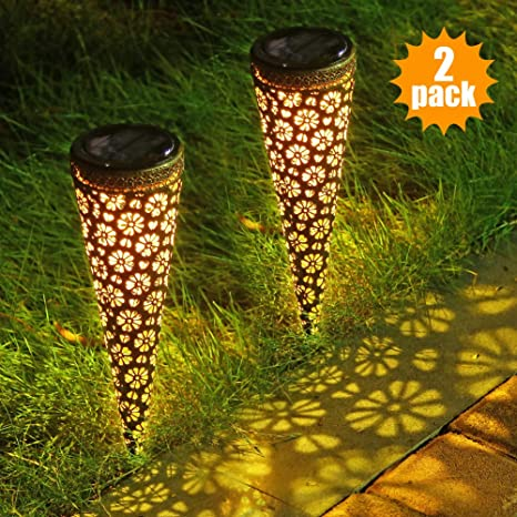 Solar Stake Lights Garden LED Decorative Lights Path Walkway Landscape Lawn Yard