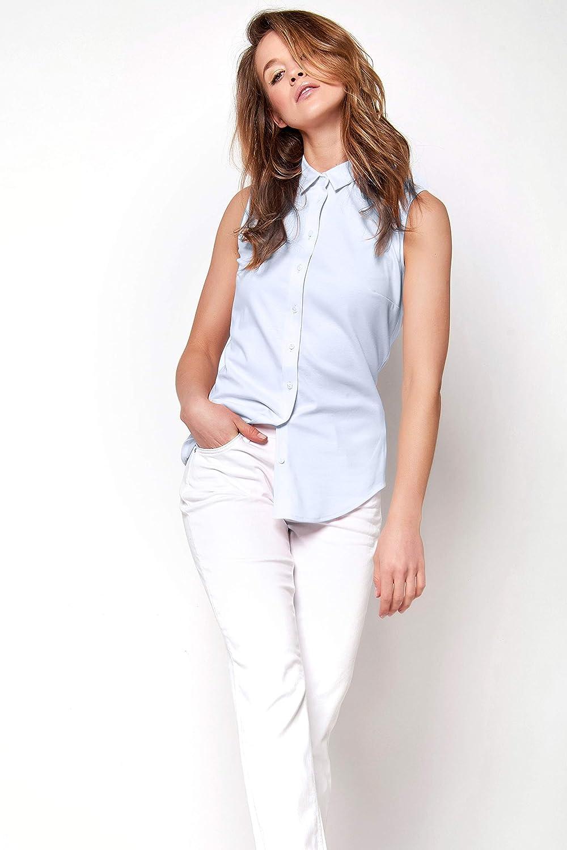 DESOTO dam blus utan arm 21060-2 Amy Ljusblå Uni