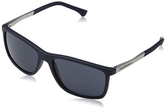 2b1df3e883501c Emporio Armani Unisex 547487 Sonnenbrille, Blau (Blue Rubber), Large  (Herstellergröße: