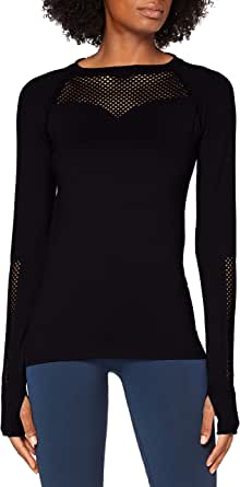 AURIQUE Women's Seamless Long Sleeve Mesh