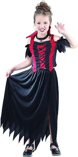 Generique Disfraz de vampiresa para niña, ideal para Halloween 10 ...