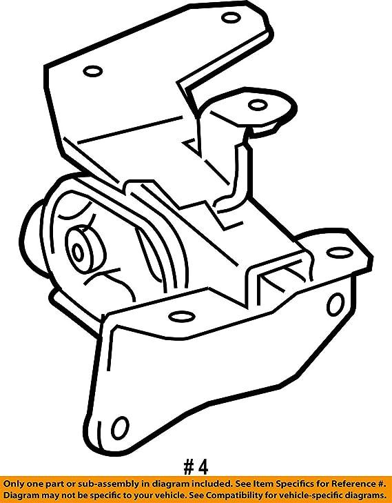 Amazon Com Toyota 12372 0t060 Engine Mounting Insulator Automotive
