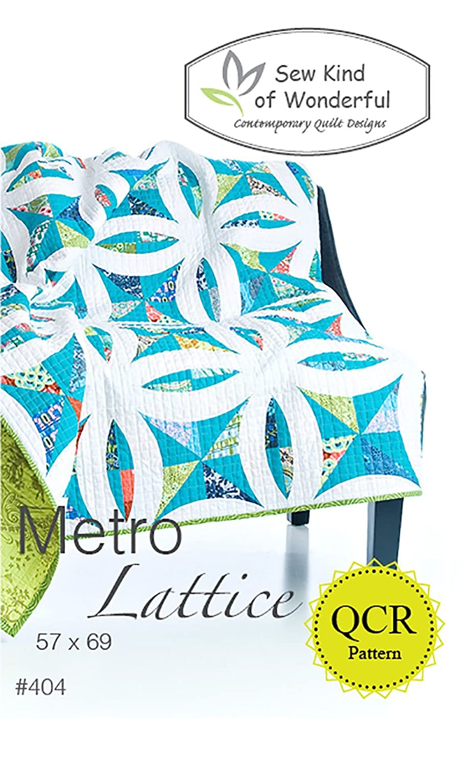 Metro Lattice Quilt Pattern: A Contemporary Quilt Design Pattern Using the Quick Curve Ruler By Sew Kind of Wonderful Jenny Pedigo 404