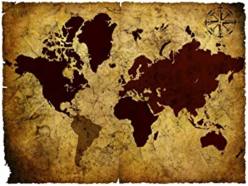 Seven rays vintage world map 03 poster 18 x 24 amazon seven rays vintage world map 03 poster 18quot gumiabroncs Gallery