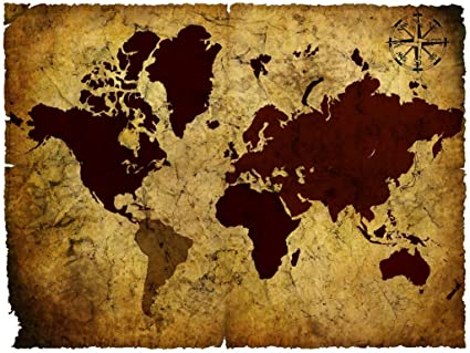 Seven rays vintage world map 03 poster 18 x 24 amazon seven rays vintage world map 03 poster 18quot gumiabroncs Image collections