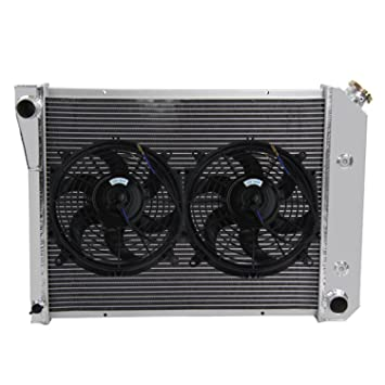 Primecooling 3 Row Aluminum Radiator w/ Cooling Fan (10 Inches Dia.) Kits