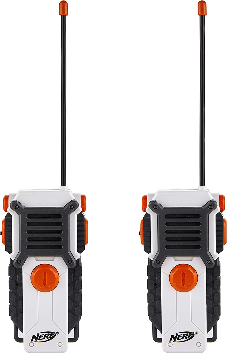 Outdoor Toys for Boys and Girls NERF Walkie Talkies for Kids by Sakar Powerful 1000ft Range Battery Powered Rugged Design White Speakers