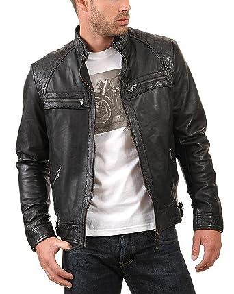 """81bb6f77b91b Black Genuine Biker Fashion Leather Jacket Sale Price◅ (XXS - Jacket Chest  40"""""""
