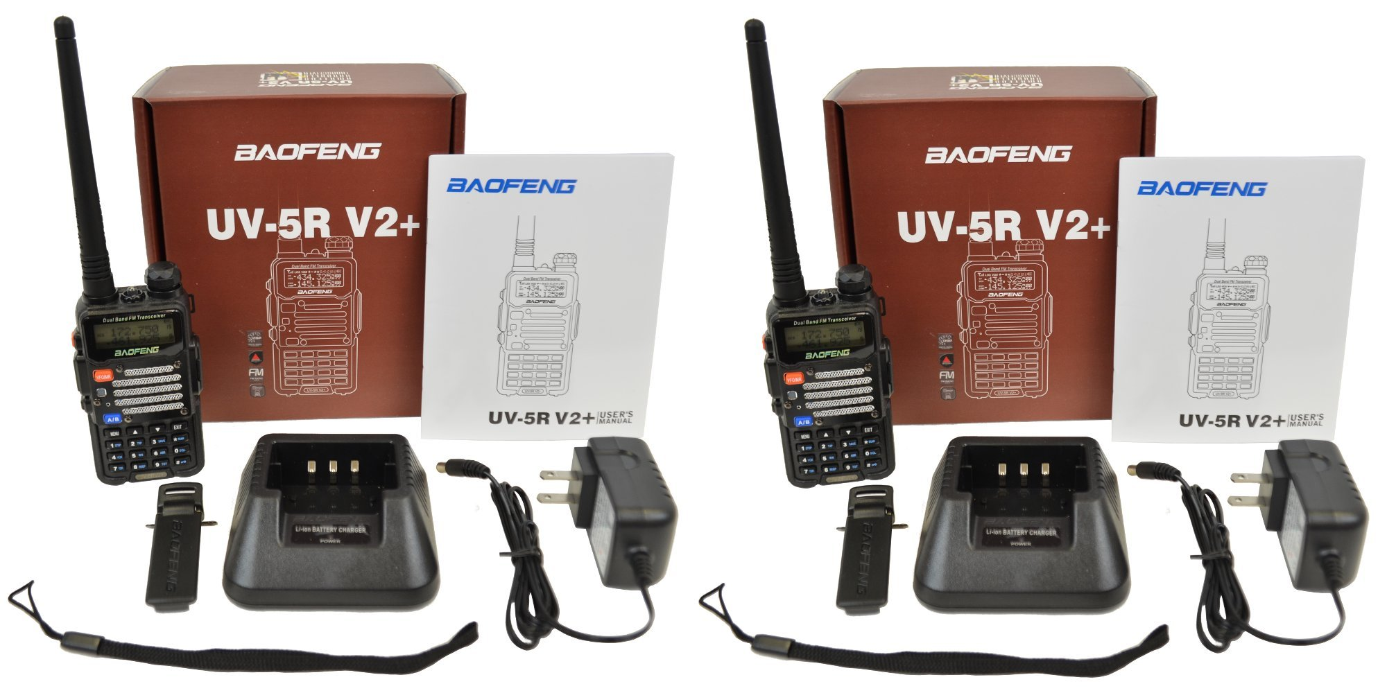 Baofeng 2-Pack UV-5R V2+UV-5R V2+ Plus Dual-Band 136-174/400-480 MHz FM Ham Two-way Radio, Improved Stronger Case, Enhanced Features - Black 2 pack (Latest 2014 Firmware) by BaoFeng (Image #6)