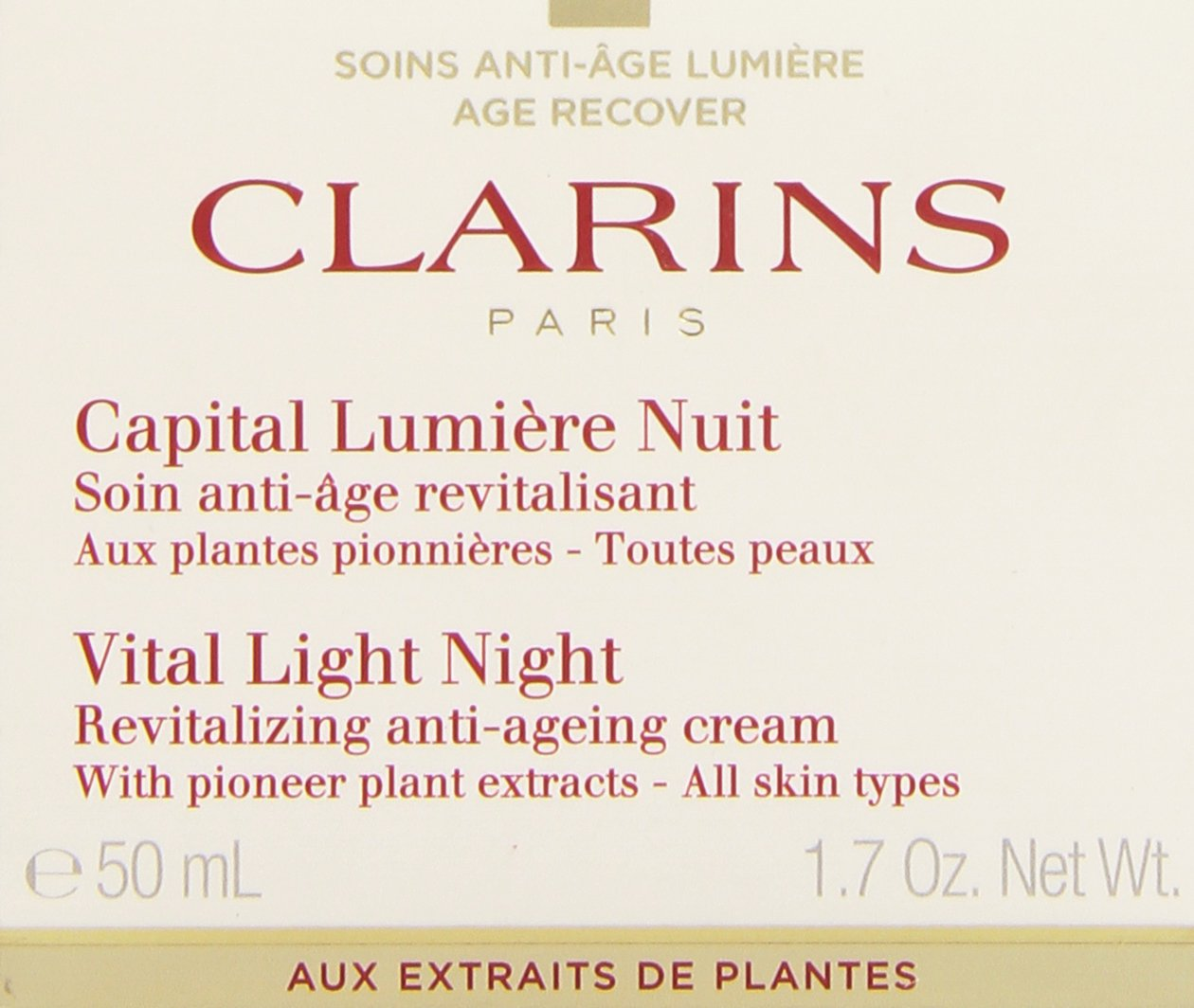 CLARINS Vital Night Revitalizing Anti Ageing Cream, 1.7 Ounce