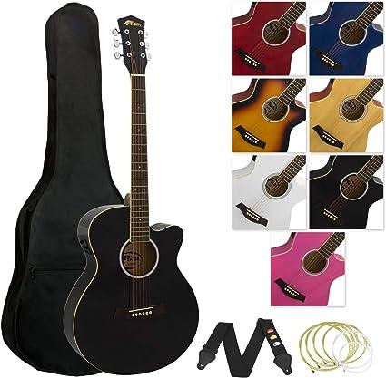 Tiger ACG4-BK - Guitarra electroacústica, color negro: Amazon.es ...