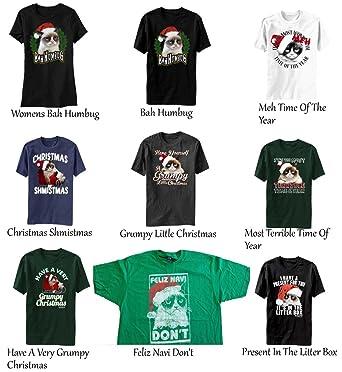 7feb80862 Grumpy Cat Christmas T-Shirts (Choose Your Design) Cats Mad Sad Holiday:  Amazon.co.uk: Clothing