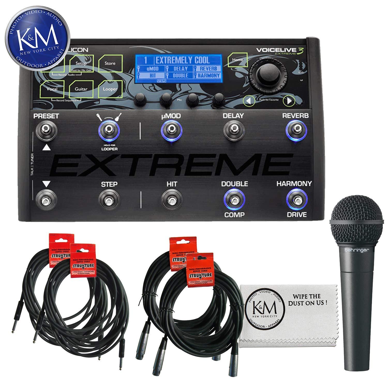 TC-Helicon VoiceLive 3 Extreme + (2) XLR Cables + (2) Instrument Cables + XM8500 Microphone
