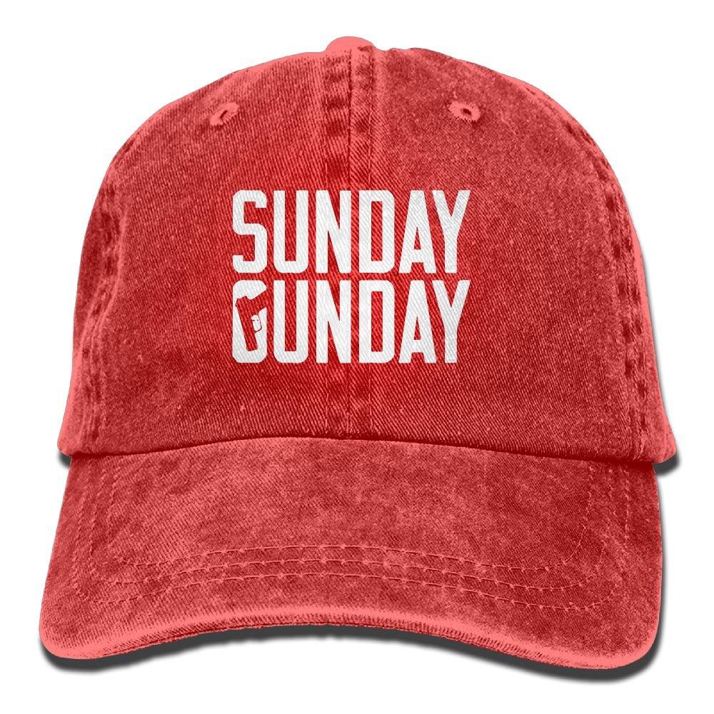 Sunday Gunday Plain Adjustable Cowboy Cap Denim Hat for Women and Men