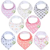Organic Baby Bandana Drool Bibs for Girls - Super Absorbent Organic Cotton Bandana Bibs - Baby Drool Bib - Teething Bibs…