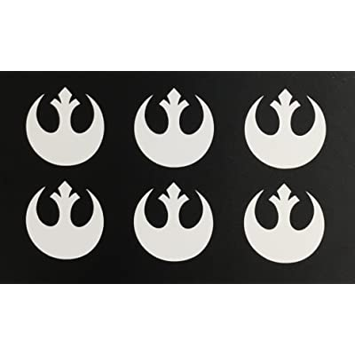 C60446 (White) Small RC Rebel Alliance (Set of 6) 1x1: Automotive