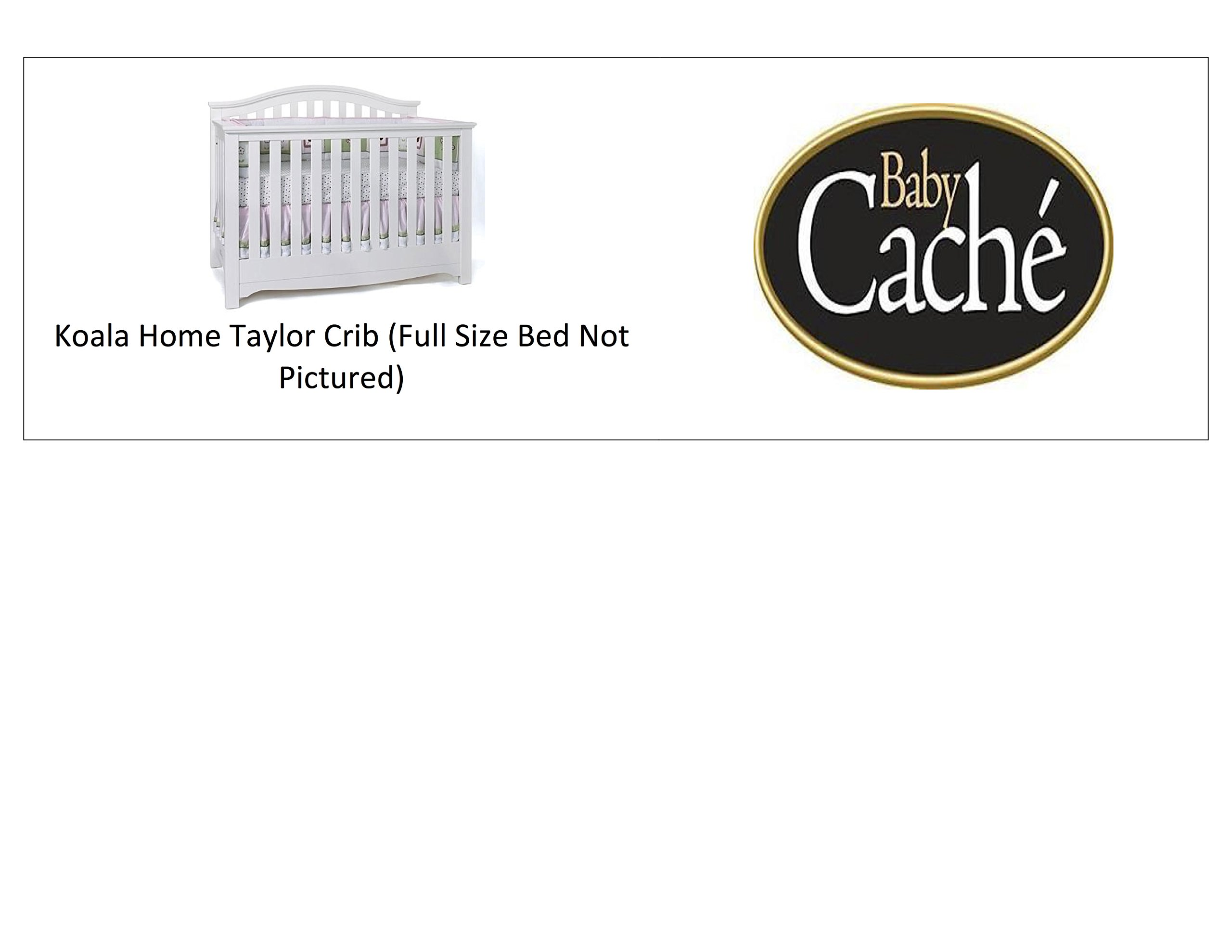 Full Size Conversion Kit Bed Rails for Baby Cache Cribs - White