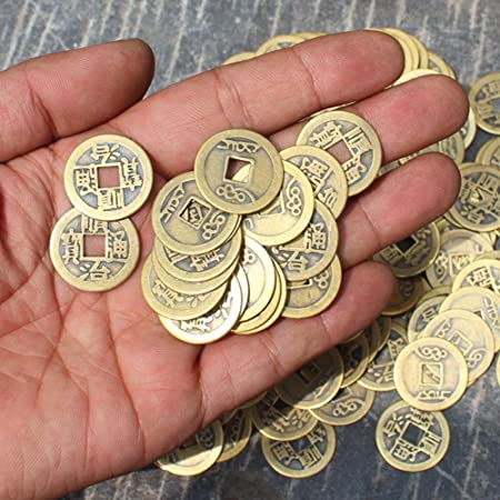 Melhope 50pcs Ancient Chinese Coins Qing Dynasty Feng Shui Purpose