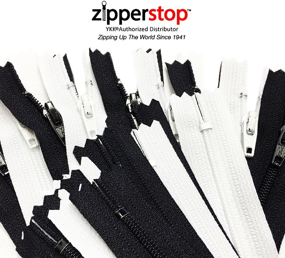 25 Zippers // Pack Sale 25 Assorted Colors 3 Inch YKK Brand Zippers #3 Nylon Coil Zippers