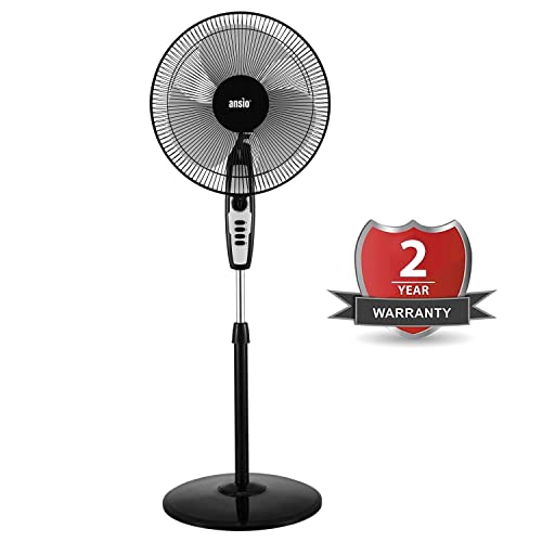 4. ANSIO High Speed 120 Watts 2300 RPM Pedestal Fan
