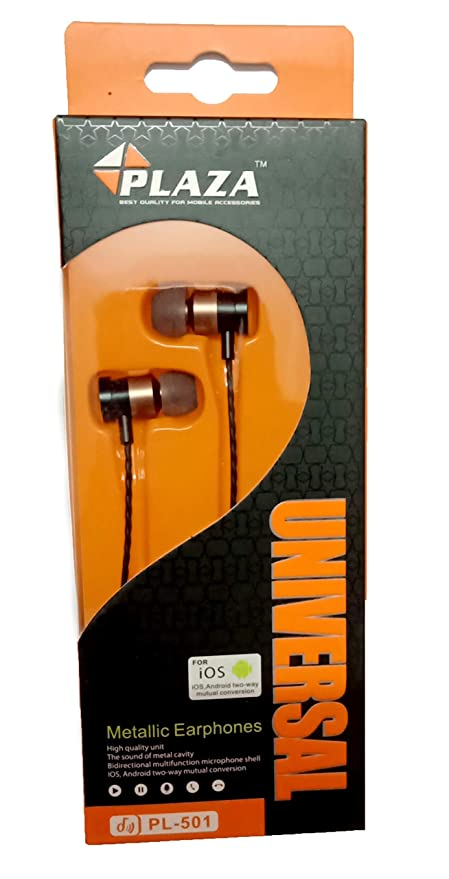 PLAZA Headphones in Ear Stereo Headphone with Mic In Ear