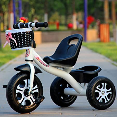 3c2ff51d380 QXMEI Children's Tricycle 1-3-2-6 Years Old Large Baby Hand Push Bike  Bicycle Stroller Baby Toys,WhiteB: Amazon.co.uk: Kitchen & Home