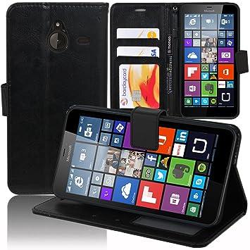 Schutzhülle Schutzhülle Halterung Video Buch Flip PU-Leder Effekt Stoff für Microsoft Nokia Lumia 640 XL/640 XL LTE/640 XL LT