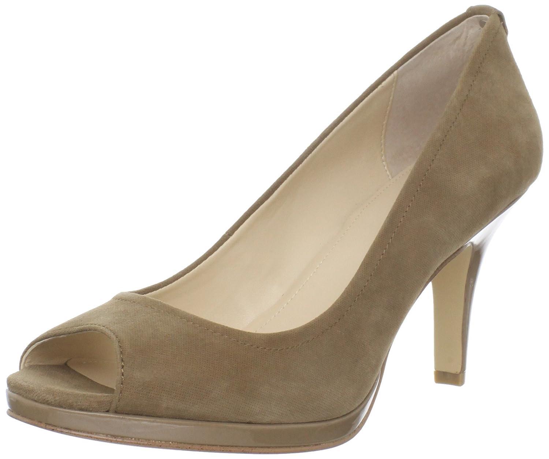 a9a5f56e4a Amazon.com | Calvin Klein Women's Kail Shimmer Suede Peep-Toe Pump | Pumps