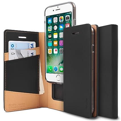buy popular 65ea4 53b0e Ringke Signature Compatible with iPhone 7, iPhone 8 Phone Case Genuine  Leather Case [3 ID/Card Slot] Handcrafted Premium Folio Multi Executive  Travel ...
