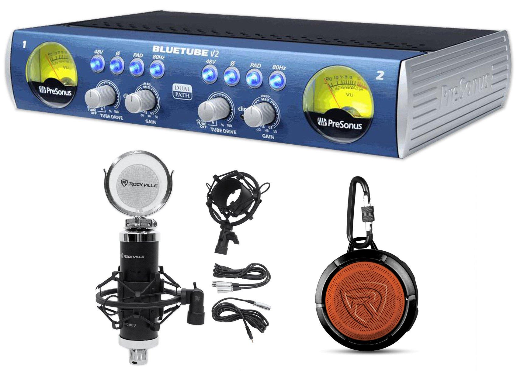 Presonus Bluetube DP V2 2-Ch. Tube Mic Pre-Amp DP2+Studio Mic+Speaker