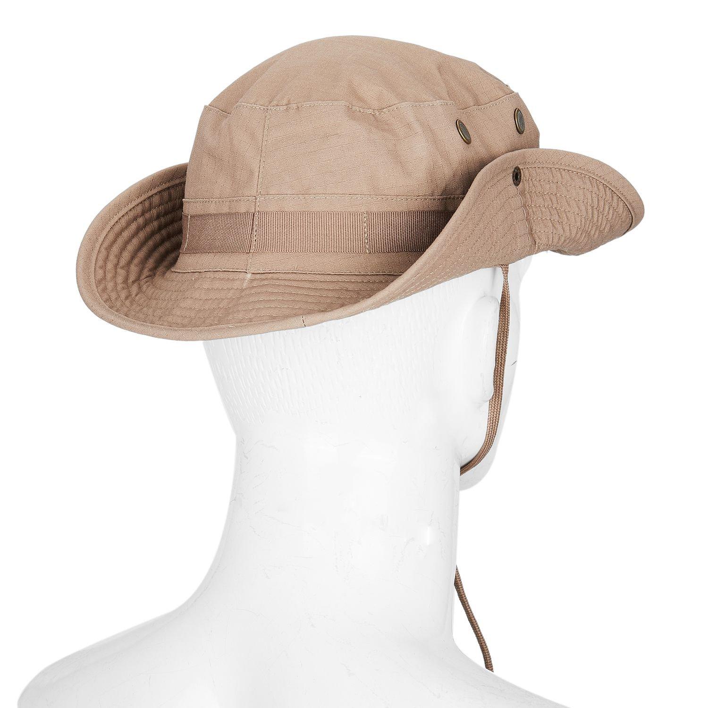 Nrpfell Chapeau de Camouflage Chapeau Boonie Chapeau de Protection Solaire Arrondi de pecheur Chapeau Tactique de lescalade de Jungle en Plein air CP