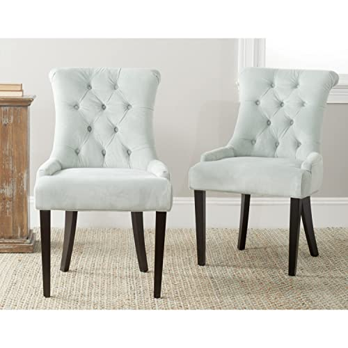 Safavieh Mercer Collection Bowie Dining Chairs, Light Blue, Set of 2