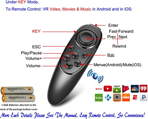 VR Remote Controller Gamepad Bluetooth Control VR Video