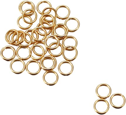 bracelet ... 100 Anneaux de jonction Doré 5 mm ouvert 5mm creation bijoux