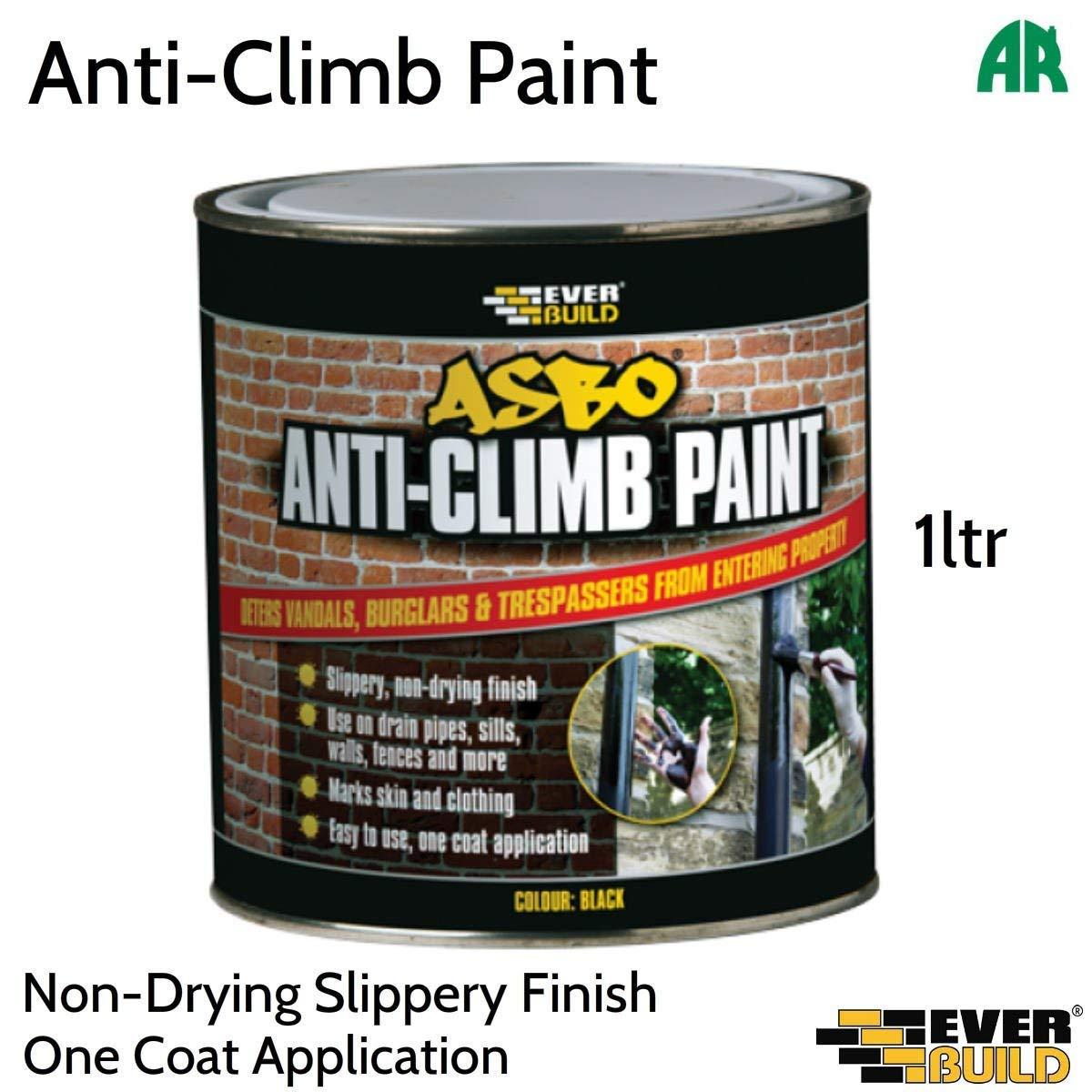 Everbuild ANTICLIMB1 Asbo Anti Climb Paint, Black, 1 Litre