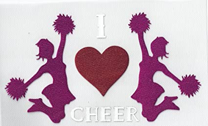 "Pom poms Bling Iron On Cheer Rhinestone Transfer /"" Cheerleader /"" Hotfix"
