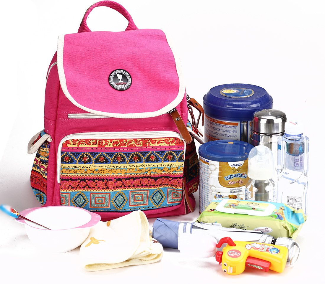 Bolsos Cambiadores Maternidad Bebe Cochecito Rosa Lona PañAles Mochila IsotéRmico Bolsa Senderismo Madre: Amazon.es: Bebé